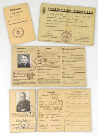 Two Weimar Republic/Third Reich Mitgleids Ausweis Fur Der Hitler Jugend/Deutscher Jungvolk for Hans