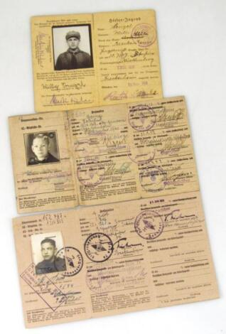 Three Weimar Republic/Third Reich Fuhrer/Mitglieds Ausweis Der Hitler Jugend membership cards