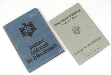 A Third Reich pair of documents relating to Karl Heinz Maue