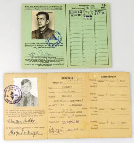 A Third Reich pair of documents relating to Christian Richter
