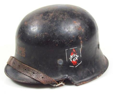 A Third Reich Hitler Youth M 1934 pattern civic model helmet