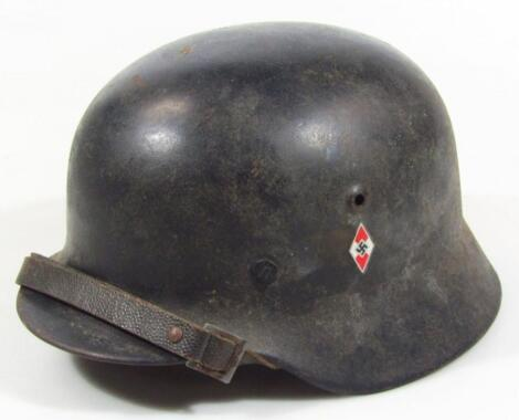 A Third Reich Hitler Youth single piece Luftschutz (air defence) gladiator style helmet