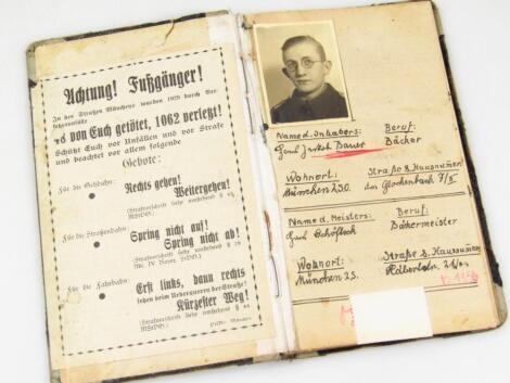 A Weimar Republic (probably 1932-1938) interesting note book