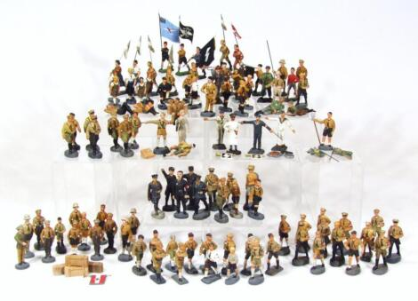 Third Reich and later Elastolin military figures