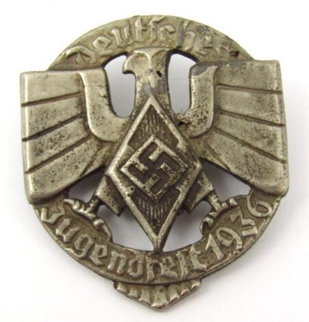 A Third Reich Deutsches Jugendfest 1936 'silver badge'