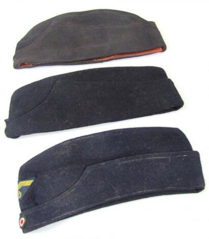 A Third Reich wool side cap