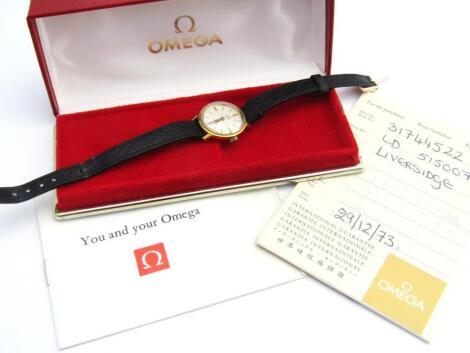 A ladies Omega De Ville wristwatch