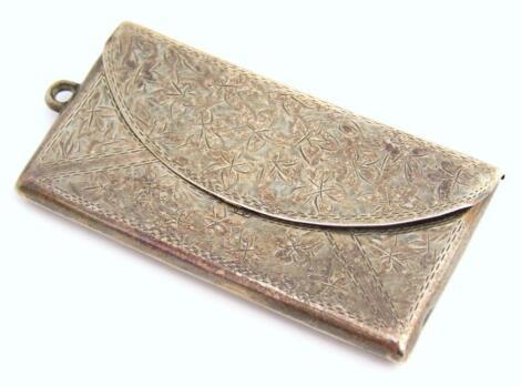 A George V silver envelope shaped case