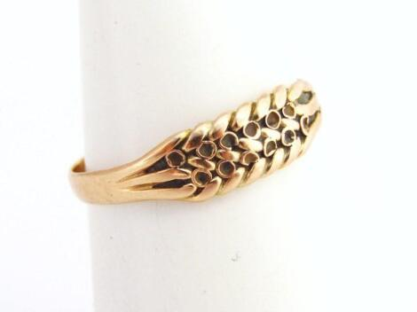 A ladies 9ct gold dress ring