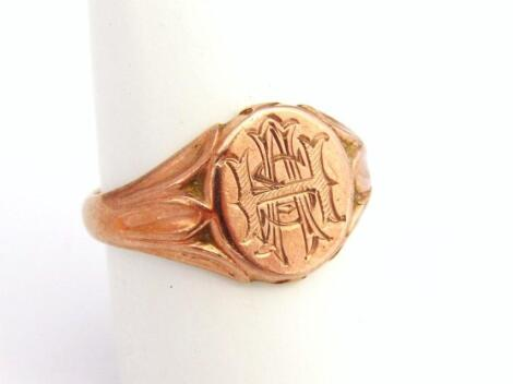 A 9ct gold signet ring