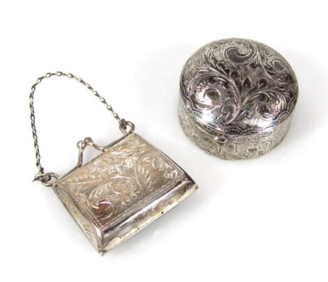 An import silver patch box