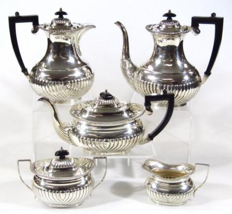 A 20thC EPC five piece silver plated tea service