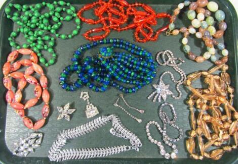 Various 1950's/1960's dress necklaces