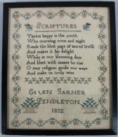 A William IV pictorial and motto sampler