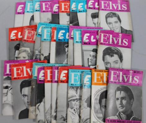 Various early and original Elvis monthly magazines