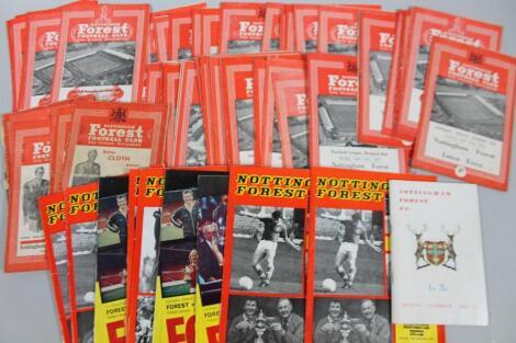 Various Nottingham Forest football programmes