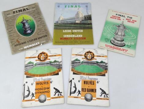 Various football programmes