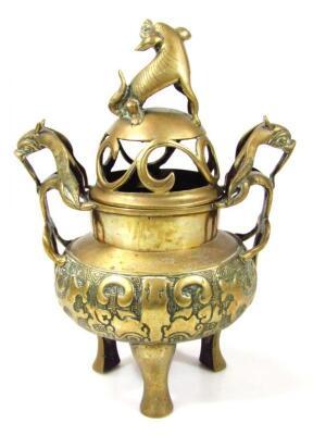 A Chinese bronze censer - 3