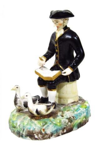 A Derby porcelain figure