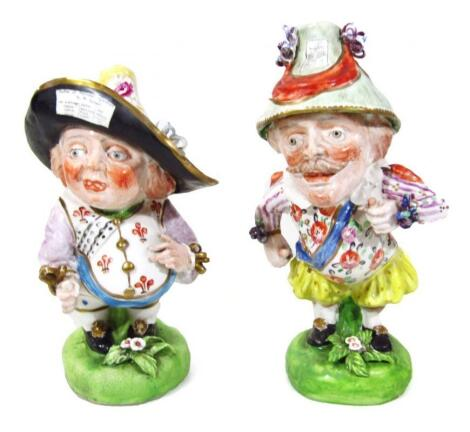 A pair of Derby figures
