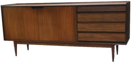 A 1960s Afromosia or African teak sideboard