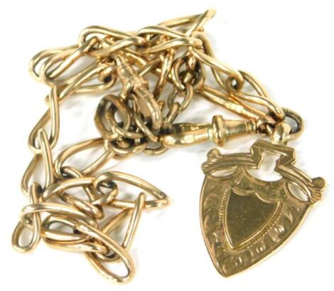 A 9ct gold watch chain