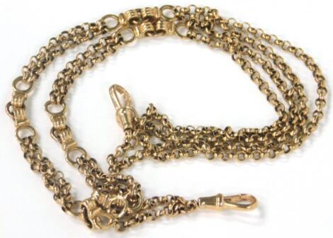 A yellow metal double chain