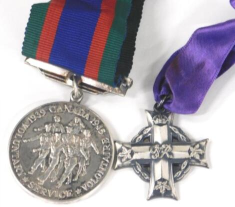 A Canadian George VI silver memorial cross