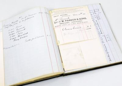 Belton House Interest. A 19thC and 20thC ledger for Hewitt's Charity regarding food orders for the - 5