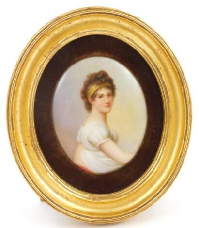 A Continental porcelain plaque
