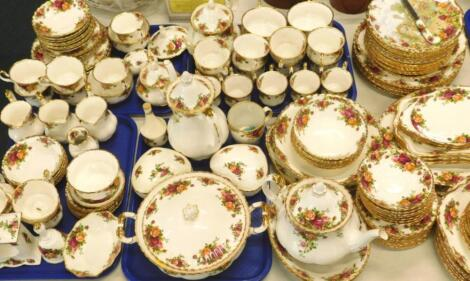 A large quantity of Royal Albert Old Country Roses pattern tea and dinner ware etc.
