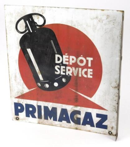 A French double sided enamel sign