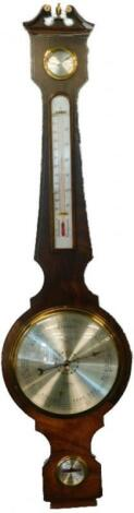 A wheel barometer in mid 19thC style by Comitti of Holborn