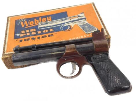 A Webley Junior model air pistol