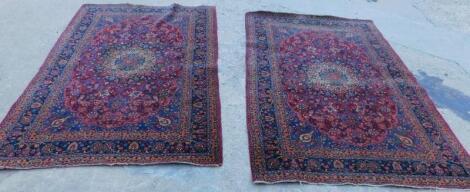 A pair of Caucasian type rugs