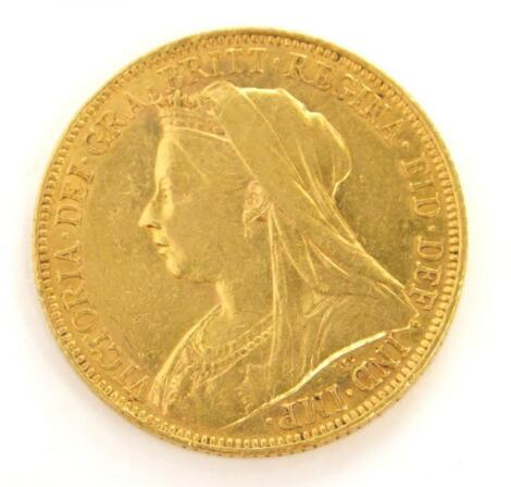 A Victorian full gold sovereign