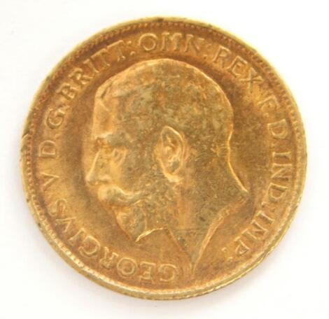 A George V half gold sovereign