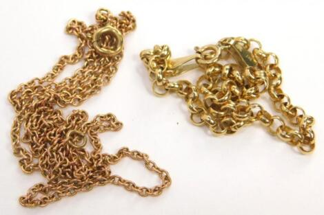 Two 9ct gold chains