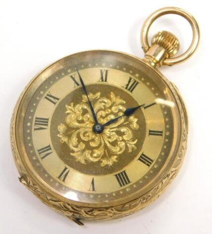 A 9ct gold fob watch
