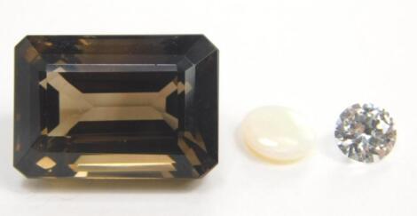 Three loose gemstones