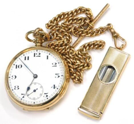 A 9ct gold pocket watch