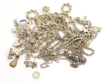 Various silver and silver plated jewellery