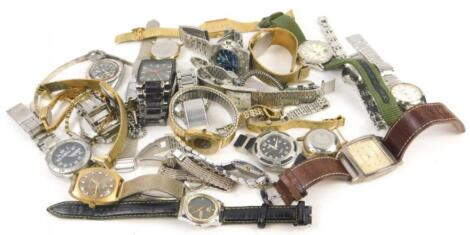 A quantity of modern wristwatches