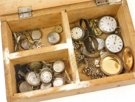 Various silver and other watch parts
