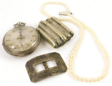 Four items of jewellery