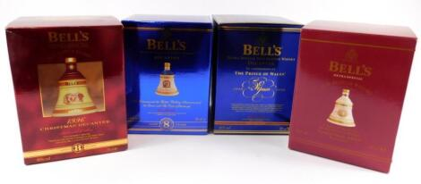 Four Bells whiskey decanters