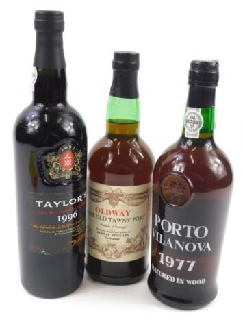 Three bottles of port