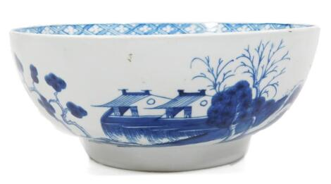 A Worcester work man's marked punch bowl