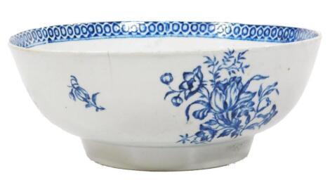 A Pennington Liverpool large punch bowl