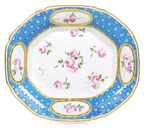 A rare Derby Duke of Northumberland Service octagonal dish